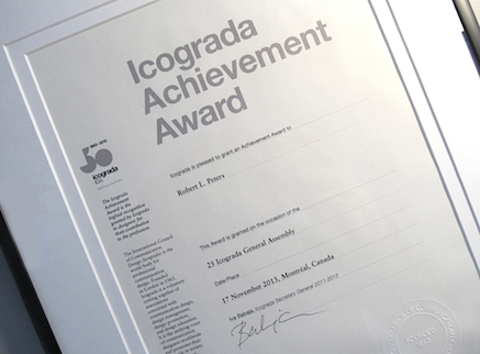 Icograda_Achievement_Award_Robert_L_Peters