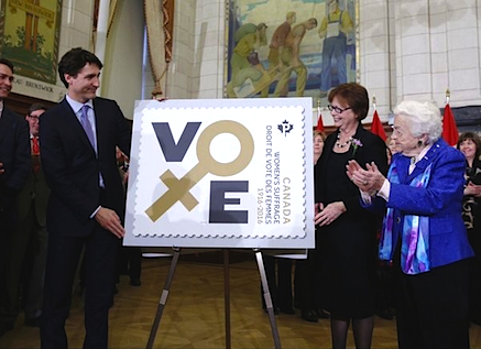 Trudeau_Suffrage-Stamp-Launch